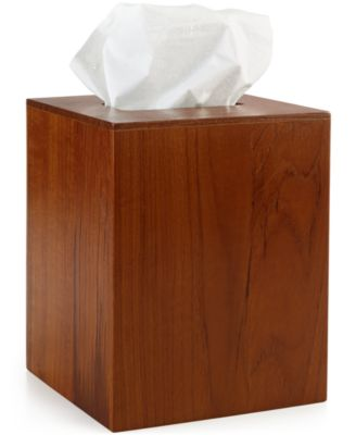Hotel Collection Teak Tissue Holder, Only at Macy's