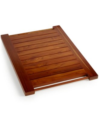 Hotel Collection Teak Bath Mat, Only at Macy's