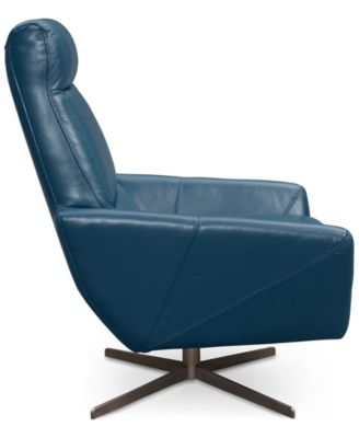 Alec Leather Swivel Chair U0026 Ottoman, Only At Macyu0027s