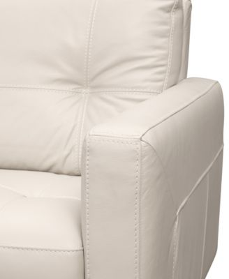Keaton Top Grain Leather Sofa, Only at Macy's Furniture Macy's