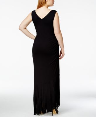 INC International Concepts Plus Size Fringe Maxi Dress, Only at ...