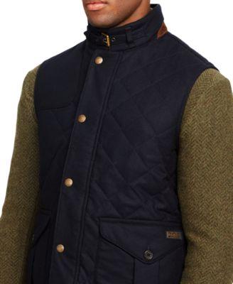 Polo Ralph Lauren Quilted Wool Vest - Coats & Jackets - Men - Macy's : polo ralph lauren quilted - Adamdwight.com