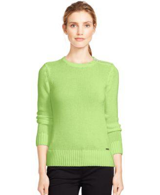 Lauren Ralph Lauren Combed Cotton Zip Sweater - Sweaters - Women ...