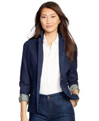Lauren Jeans Co. Denim Blazer - Jackets & Blazers - Women - Macy's