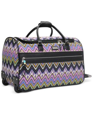 "CLOSEOUT! Steve Madden Patchwork 21"" Rolling Duffel, Only at Macy's"