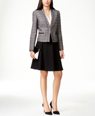 Tahari ASL Contrast Tweed A-Line Skirt Suit - Wear to Work - Women ...