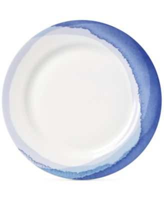 Lenox Indigo Watercolor Stripe Porcelain Dinner Plate, A Macy's Exclusive Style