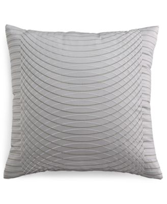 "Hotel Collection Modern Interlace Embroidered 20"" Square Decorative Pillow, Only at Macy's"