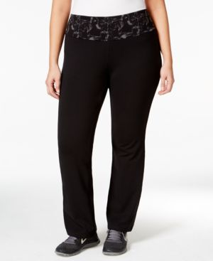 Style & Co. Sport Plus Size Pull-On Yoga Pants, Only at Macy's