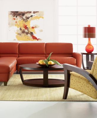 Renata Living Room Furniture Sets & Pieces Leather Sectional Sofa