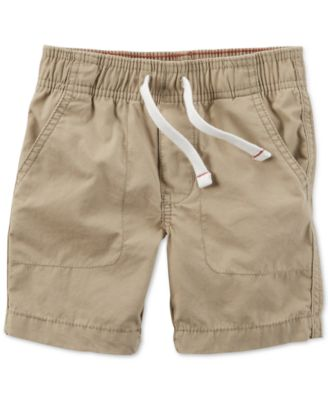 Carter's Toddler Boys' Khaki Pull-On Poplin Shorts - Shorts - Kids ...