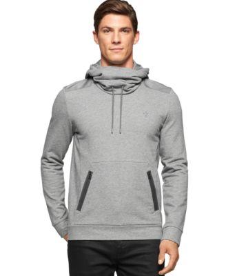 Calvin Klein Funnel-Neck Pullover Sweatshirt - Hoodies ...