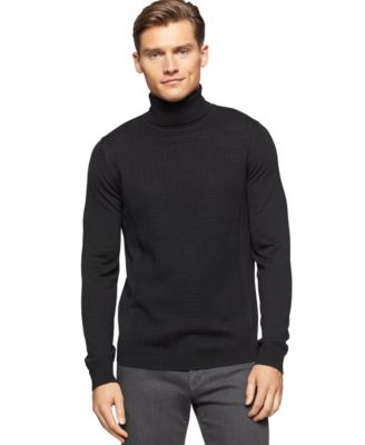 Calvin Klein Merino Wool Long Sleeve Turtleneck - Sweaters - Men ...