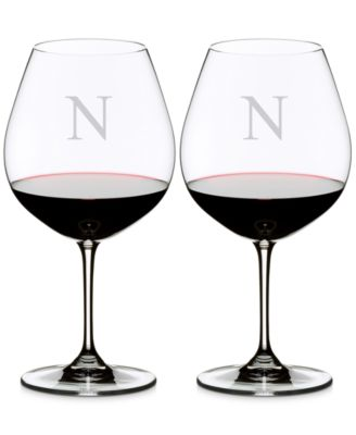 Riedel Vinum Monogram Collection 2-Pc. Block Letter Pinot Noir Wine Glasses