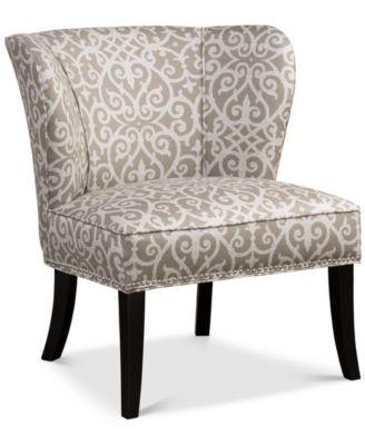 Calabasas Bird Watcher Fabric Accent Chair Direct Ships