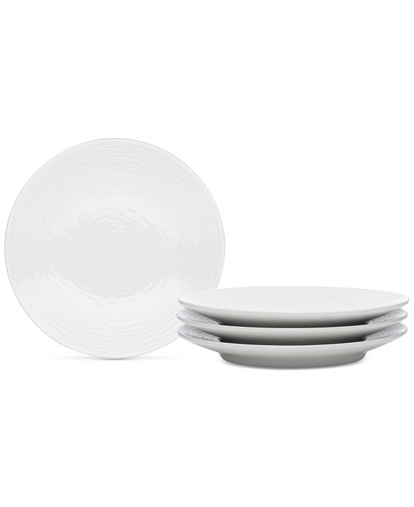 Noritake Swirl  4-Pc. Coupe Appetizer Plates
