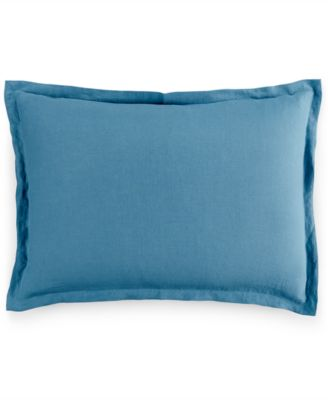 Hotel Collection Linen Turquoise King Sham, Only at Macy's