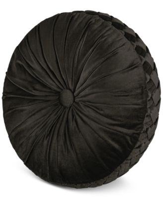 "J Queen New York Hanover 15"" Round Decorative Pillow"