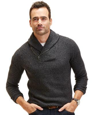 Nautica Textured Shawl Collar Sweater - Sweaters - Men - Macy's