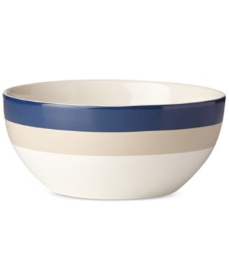 "kate spade new york all in good taste Striped 8"" Serving Bowl, Only at Macy's"
