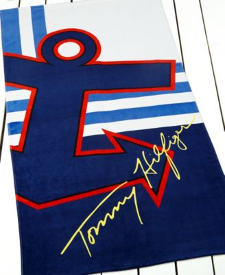 Tommy Hilfiger Anchor Seas Beach Towel