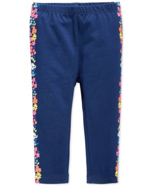 First Impressions Baby Girls' Flower Stripe Leggings, Only at Macy's