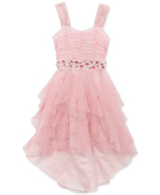 Rare Editions Girls' Embellished High-Low Cascade Dress - Kids ...