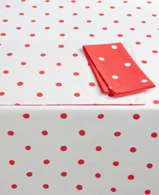 """kate spade new york Charlotte Street Coral Oblong 60"""" X 120"""" Tablecloth"""