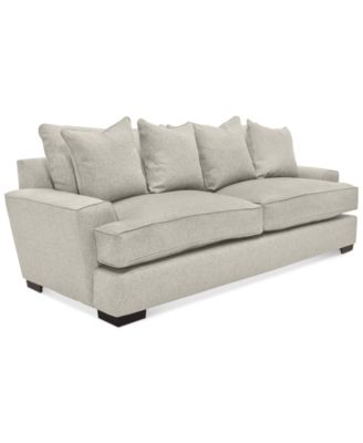 Ainsley Fabric Sofa With 4 Toss Pillows Only At Macy S