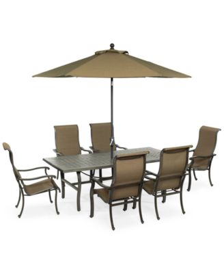 Bowmore 7 Pc. Outdoor Set (Rectangular Table U0026 6 Chairs), Only At Macyu0027s