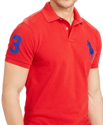 Polo Ralph Lauren Custom-Fit Big Pony Mesh Polo Shirt