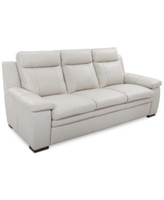 Kaleb Tufted Leather Sofa Furniture Macy S