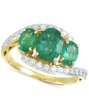 RARE Featuring GEMFIELDS Certified Emerald (1-5/8 ct. t.w.) and Diamond (1/3 ct. t.w.) Ring in 14k Gold