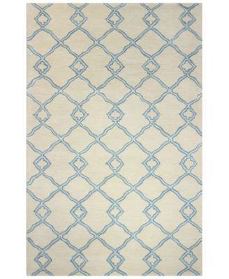 """Bashian Gramercy Passage Ivory/Blue 3'9"""" x 5'9"""" Area Rug"""