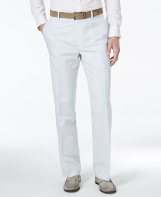 INC International Concepts Neal Slim-Fit Linen Pants, Only at ...