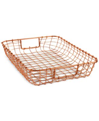 Design Ideas Cabo Copper Letter Basket