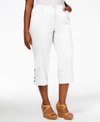 Style & Co. Plus Size Tummy-Control Capri Pants, Only at Macy's ...