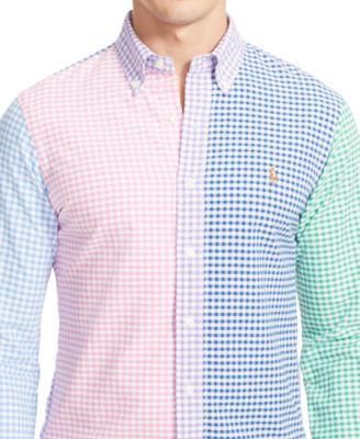 Polo Ralph Lauren Multi-Gingham Oxford Shirt - Casual Button-Down ...