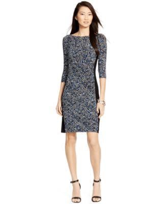 Lauren Ralph Pee Printed Sheath Dress