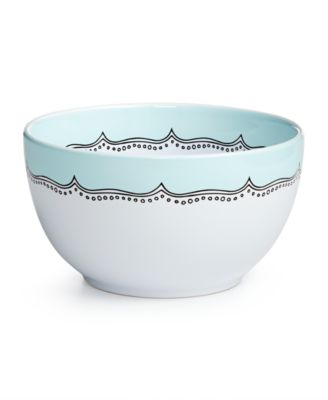Whim by Martha Stewart Collection Mint Embroidery Ceramic Mixing Bowl, Only at Macy's