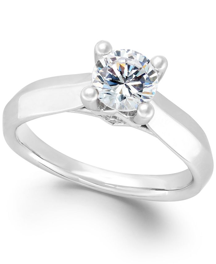 Macy's - Diamond Solitaire Engagement Ring (1 ct. t.w.) in 14k White or Two-Tone Gold