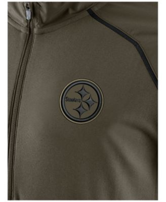 ... Hoodie Nike Mens Pittsburgh Steelers Salute to Service Hybrid Quarter- Zip Pullover ... 14a373344