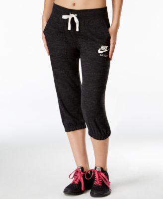 Nike Gym Vintage Drawstring Capris - Pants & Capris - Women - Macy's