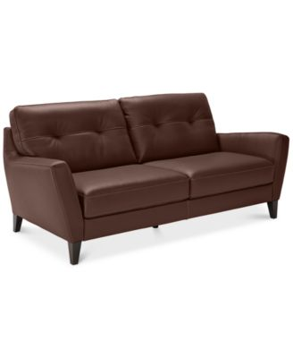 geovany leather tufted sofa