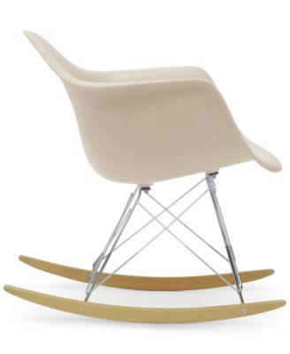 Baxton Studio Caden Mid Century Modern Rocking Chair, Direct Ship