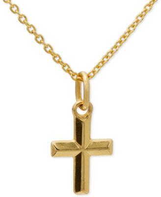 Studio silver sterling silver necklace sideways cross pendant giani bernini cross pendant necklace in 24k gold over sterling silver only at macys aloadofball Images