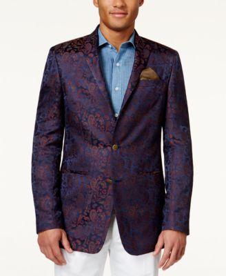 Tallia Velvet Paisley Sport Coat - Men's Brands - Men - Macy's