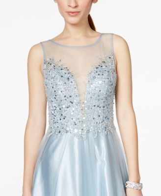 Embellished Sweetheart Dress