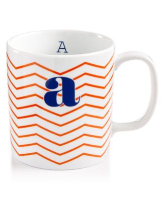 "The Cellar Chevron Initial Mug Collection ""A"" Mug, Only at Macy's"