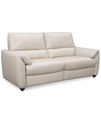 Hansin 2 Piece Power Reclining Leather Sofa
